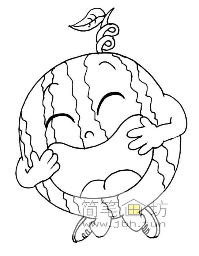一组卡通水果蔬菜简笔画图片【28幅】(1)