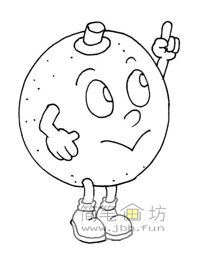 一组卡通水果蔬菜简笔画图片【28幅】(4)