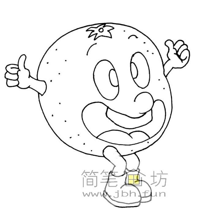 一组卡通水果蔬菜简笔画图片【28幅】(5)