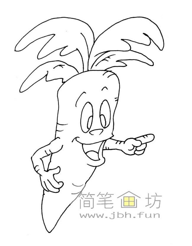一组卡通水果蔬菜简笔画图片【28幅】(6)