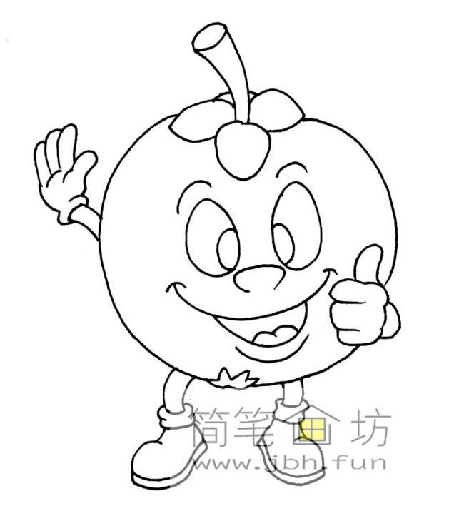 一组卡通水果蔬菜简笔画图片【28幅】(7)