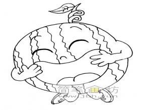 一组卡通水果蔬菜简笔画图片【28幅】