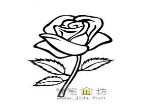 3幅玫瑰花简笔画图片