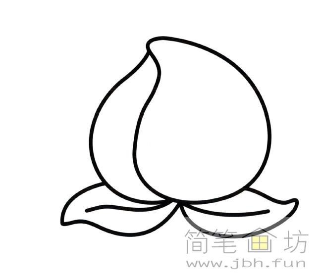 桃子彩色简笔画图片(1)