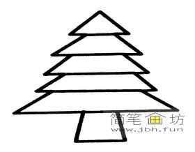 简单的儿童简笔画松树图片