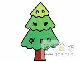 彩色松树的简笔画教程