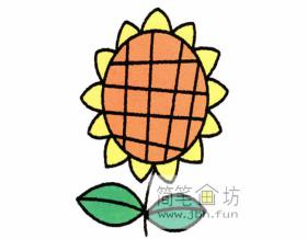 幼儿简笔画向日葵的画法
