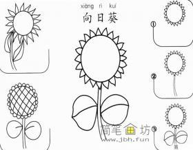 简单的向日葵简笔画画法步骤