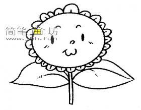 向日葵简笔画图片大全