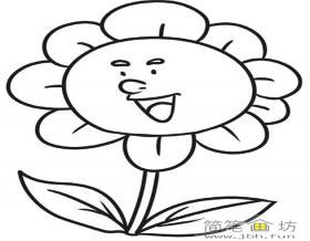 儿童卡通简笔画:太阳花的画法步骤