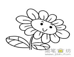 3幅向日葵简笔画图片素材