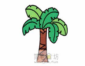 儿童简笔画大树的分解步骤