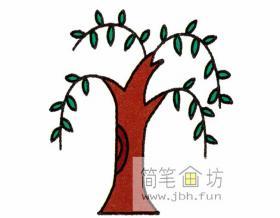 柳树的简笔画教程详细解析