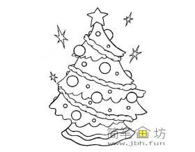 6幅圣诞树简笔画图片素材