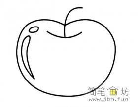 苹果的简笔画图片
