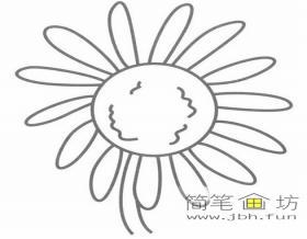 儿童简笔画向日葵的绘画步骤