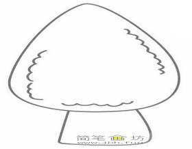 卡通小蘑菇的简笔画教程