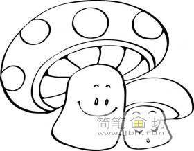 简笔画蘑菇的画法图片