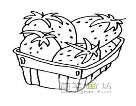 一篮草莓简笔画