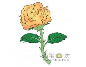 玫瑰的简笔画图片素材大全