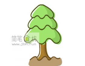 简单的儿童简笔画小松树画法步骤教程