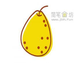 图解彩色梨的简笔画教程