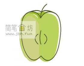 苹果的简笔画绘画步骤【彩色】