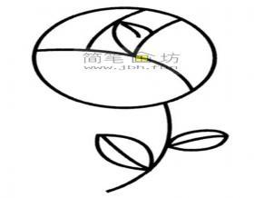 幼儿学画画:简单的玫瑰花简笔画教程