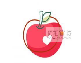 图解苹果的简笔画教程
