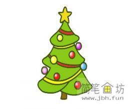 圣诞树的简笔画绘画步骤