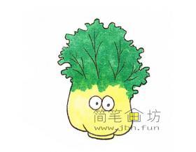 卡通大白菜的简笔画图片2幅