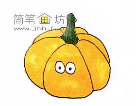 可爱的卡通南瓜的简笔画图片