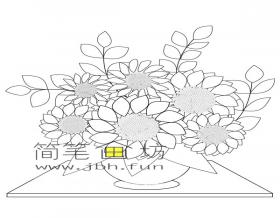 向日葵简笔画图片