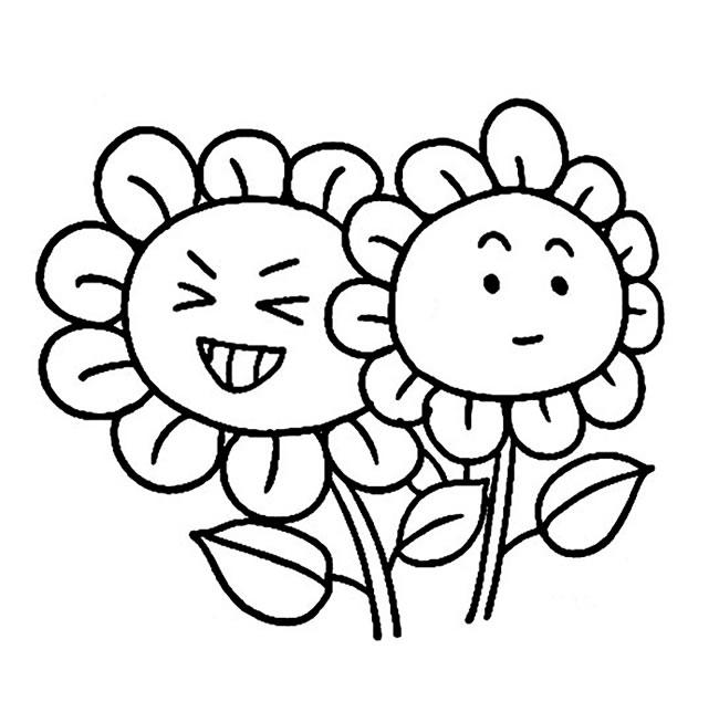 卡通向日葵简笔画图片