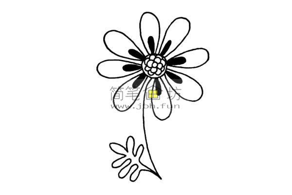 一朵小花的简笔画画法教程(4)