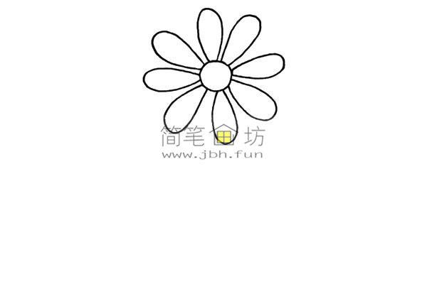 一朵小花的简笔画画法教程(2)