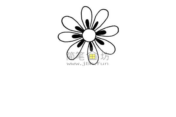 一朵小花的简笔画画法教程(3)