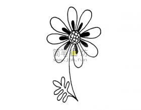 一朵小花的简笔画画法教程
