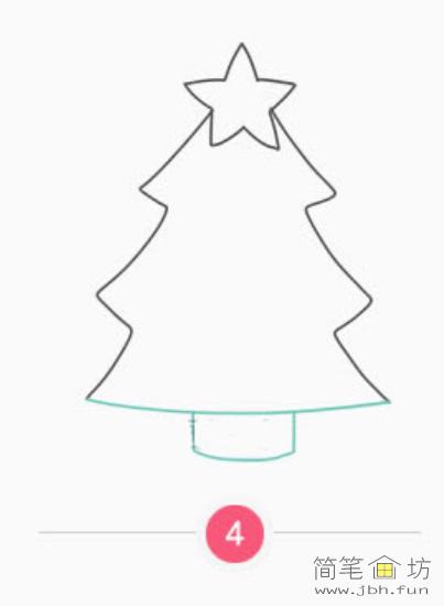 漂亮的圣诞树彩色简笔画教程(5)