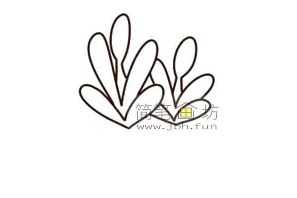 多肉植物的简笔画画法教程【彩色】(4)