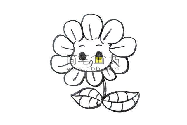 幼儿学画画_漂亮的卡通太阳花画法(6)