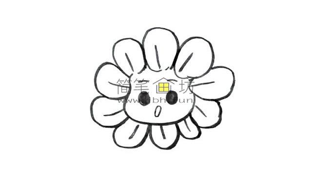 幼儿学画画_漂亮的卡通太阳花画法(5)