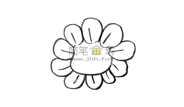幼儿学画画_漂亮的卡通太阳花画法(4)