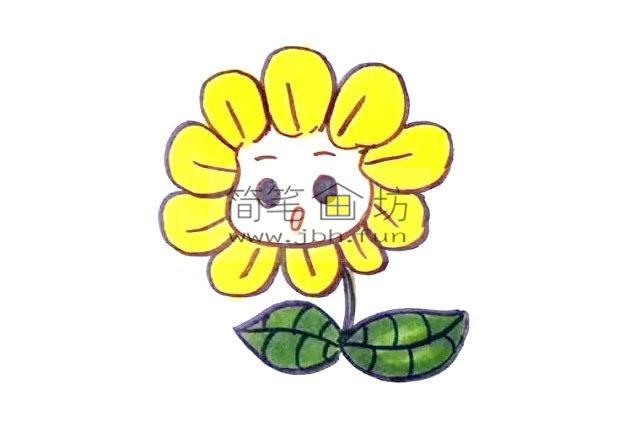 幼儿学画画_漂亮的卡通太阳花画法(7)