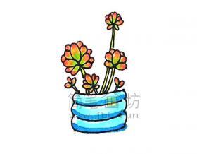 好看的虹之玉简笔画绘画步骤【彩色】