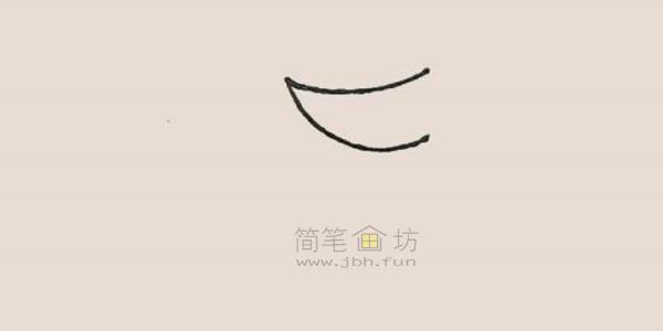 食人花简笔画绘画步骤【彩色】(1)