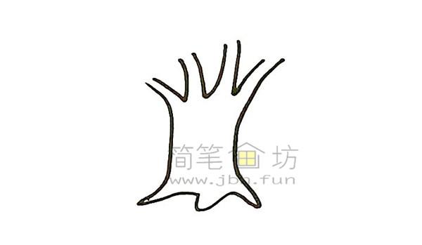 教你画大榕树简笔画简笔画【彩色】(2)