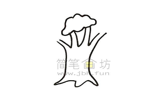 教你画大榕树简笔画简笔画【彩色】(3)