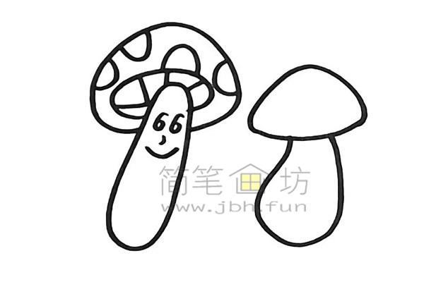 美丽的蘑菇简笔画怎么画【彩色】(8)