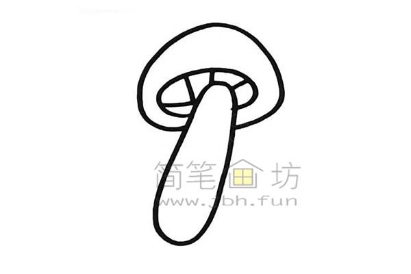 美丽的蘑菇简笔画怎么画【彩色】(4)